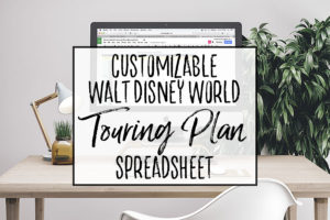 Walt Disney World Touring Plan Spreadsheet