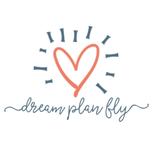 Dream Plan Fly Logo Square