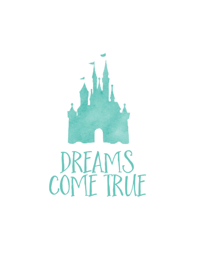 Free Disney World Autograph Print - Dreams Come True | Dream Plan Fly