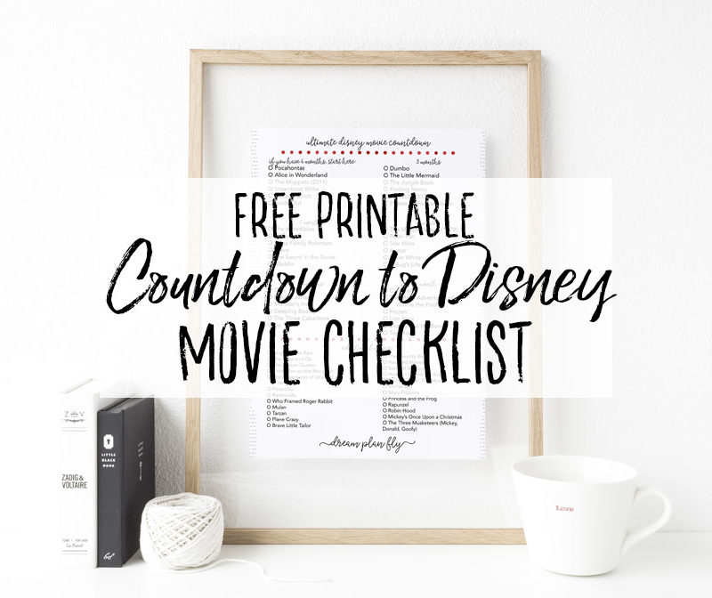 Disney Movie Countdown Checklist