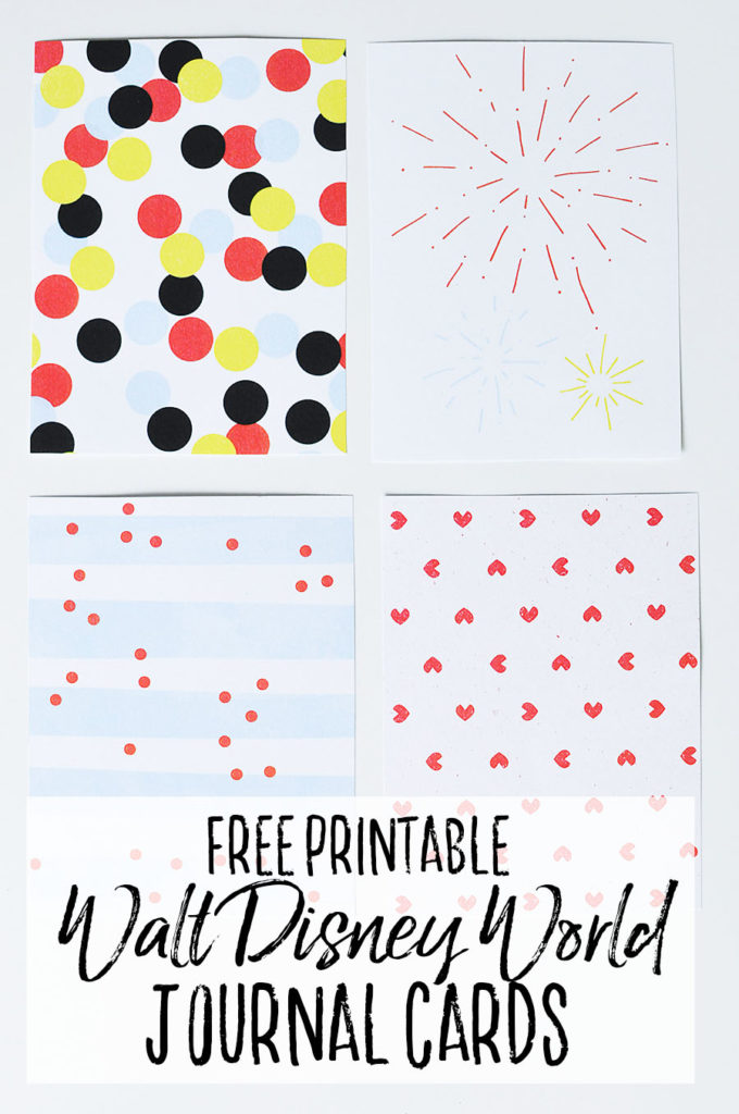 Free Printable Disney Journal Cards - Dream Plan Fly