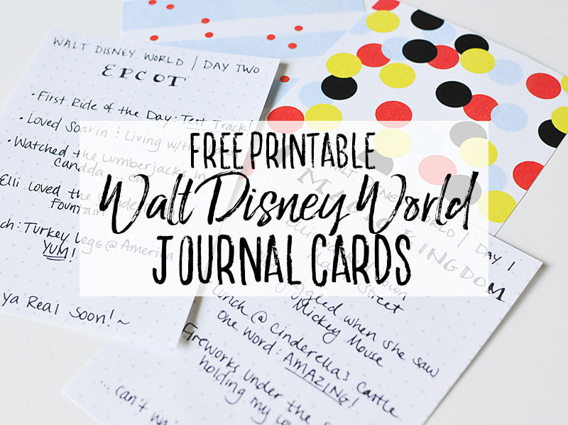 Disney Journal Cards