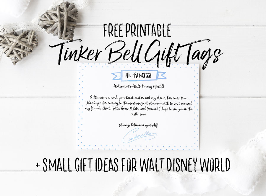 Free Printable Tinker Bell Disney World Gift Tag - Dream Plan Fly