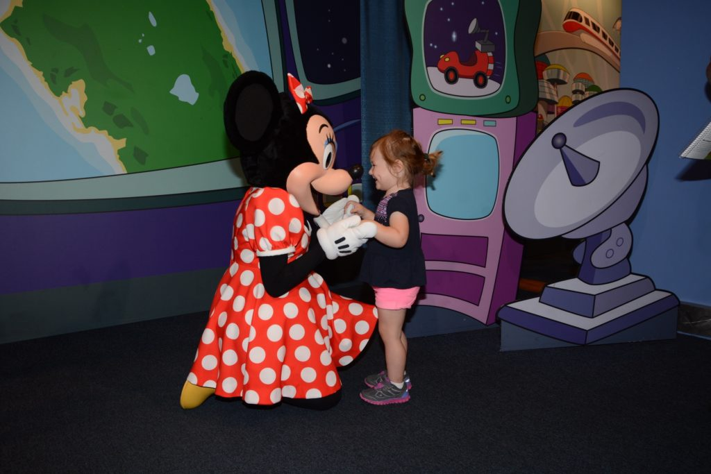 Minnie Mouse and 3 year old toddler girl - Memory Maker - Walt Disney World