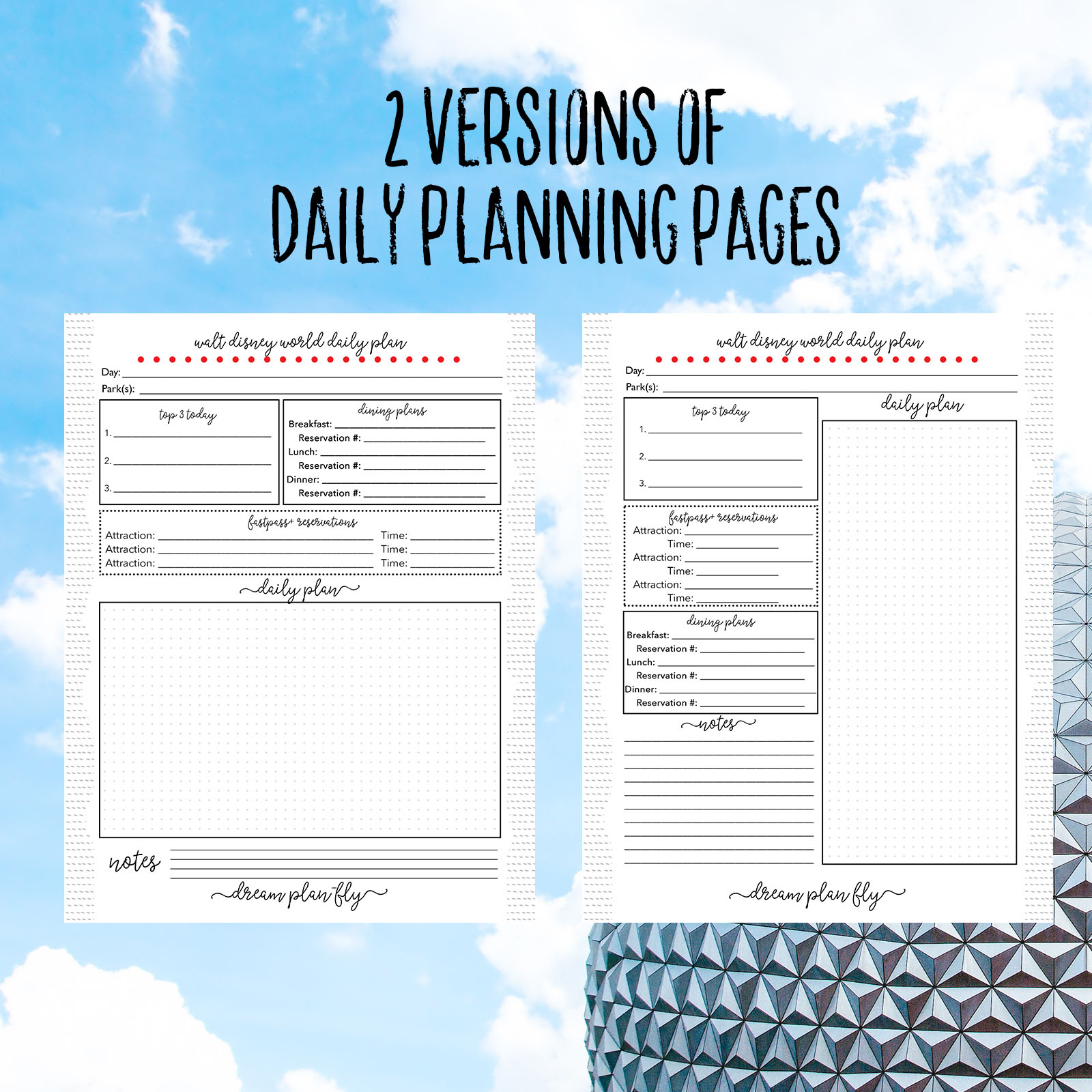 Ultimate Walt Disney World Vacation Planner  Dream Plan Fly
