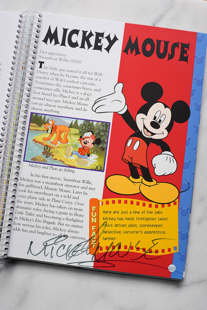 DIY Character Autograph Book - Dream Plan Fly