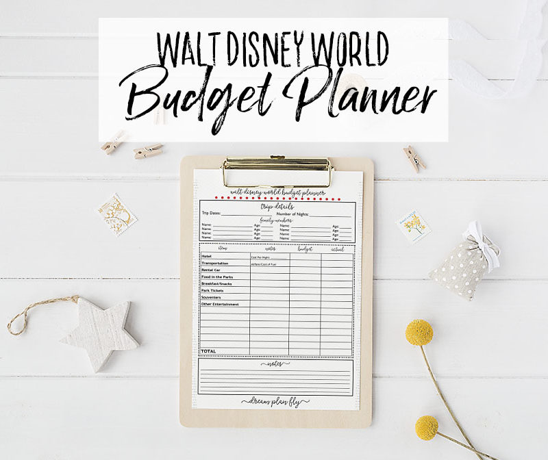 Walt Disney World Budget Planner