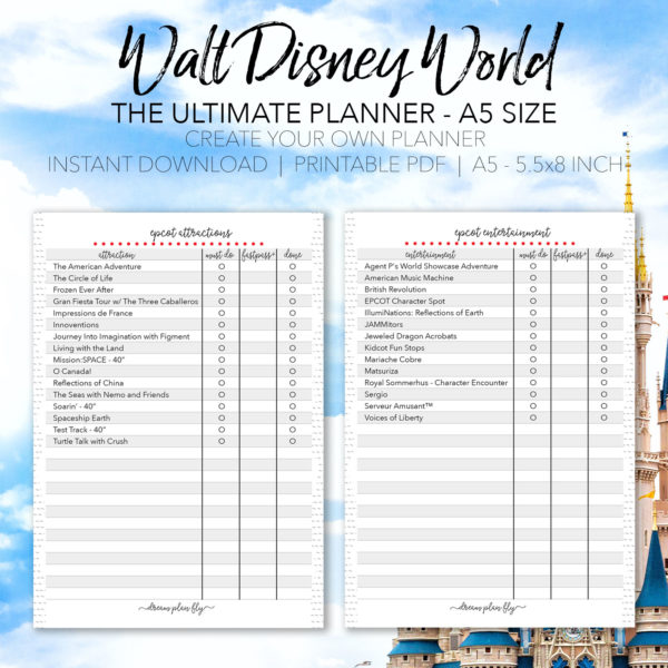 Ultimate Walt Disney World Vacation Planner - A5 Size