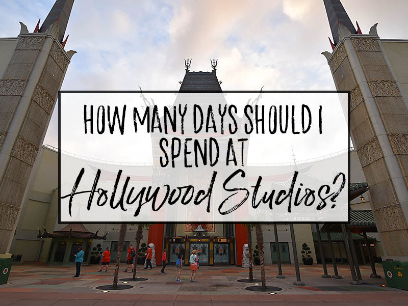 How many days should I spend at Hollywood Studios?