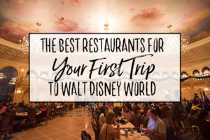 The Best Restaurants for Your First Trip to Walt Disney World