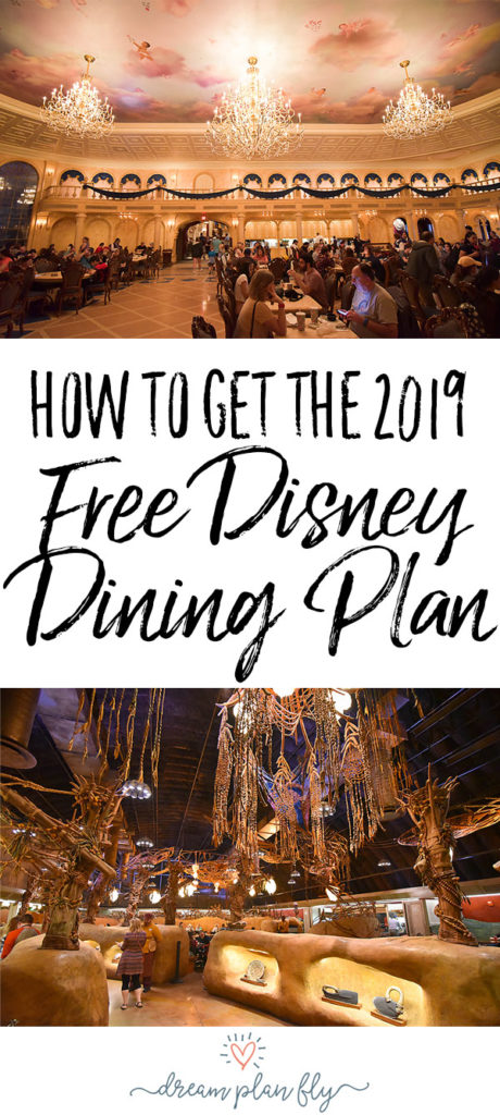 Free Disney Dining Plan 2019 - Dream Plan Fly