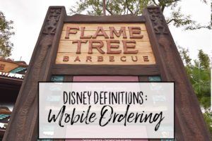 Disney Definitions: Mobile Ordering