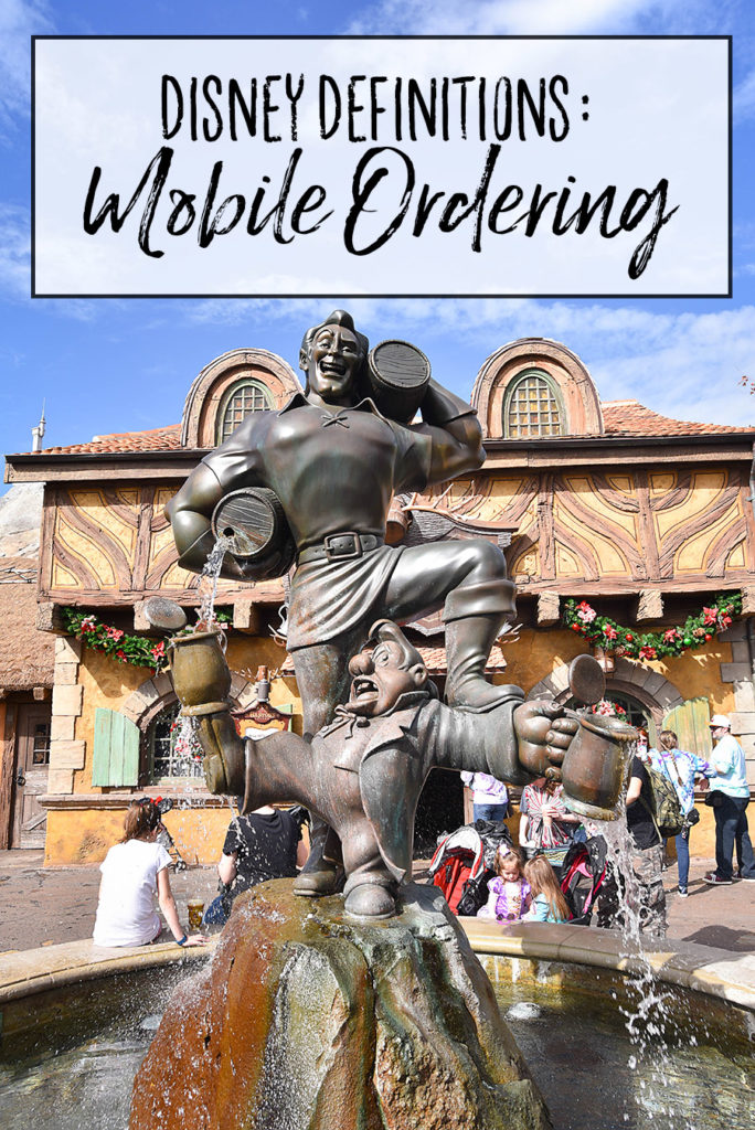Disney World Definitions Mobile Ordering - Dream Plan Fly