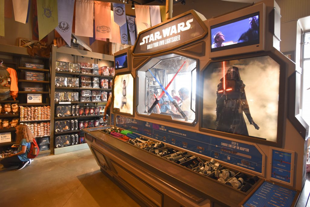 Star Wars Build a Lightsaber Disney Springs - Free Things to Do at Disney Springs - Dream Plan Fly