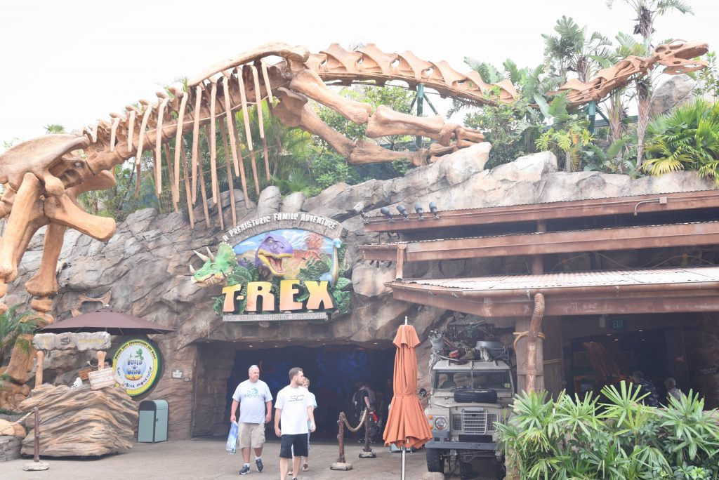 T-Rex Restaurant Sand Pit Disney Springs - Free Things to Do at Disney Springs - Dream Plan Fly